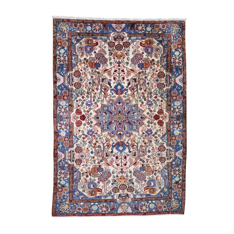 """Shahbanu Rugs New Persian Nahavand Hand-Knotted Wide Gallery Oriental Rug (6'7"""" x 9'7"""") - 6'7"""" x 9'7"""""""