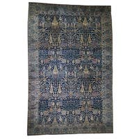 """Shahbanu Rugs Oversized Antique Maharaja Kashmir Willow Tree Design Hand-knotted Rug (11'7"""" x 17'8"""") - 11'7"""" x 17'8"""""""