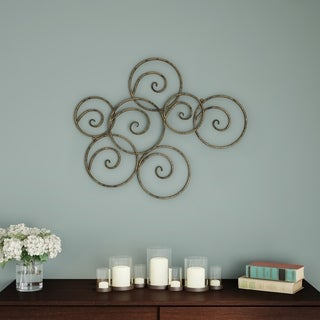 Carson Carrington Geometric Scrolled Circles Wall Decor