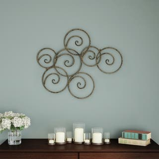 Carson Carrington Geometric Scrolled Circles Wall Decor