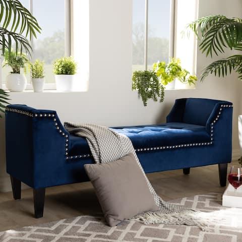 Modern and Contemporary Velvet Bench