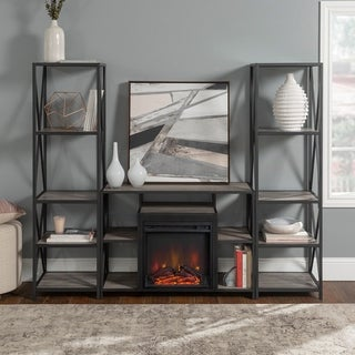 Carbon Loft Geller 3-piece Fireplace Entertainment Wall