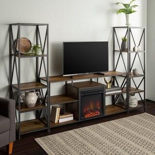 Carbon Loft Geller 3-piece Fireplace Entertainment Wall
