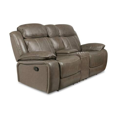 Anya Grey Dual Recliner Console Loveseat