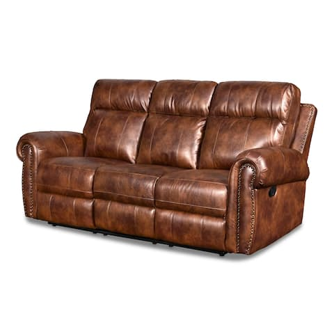 Roycroft Pecan Dual Recliner Sofa