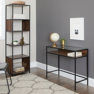 Carbon Loft Geller 2-piece Desk and Bookshelf Tower Set