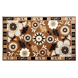 "100% PREMIUM POLYPROPYLENE  with JUTE BLEND LATEX BACKING AREA RUGS (5"" x 8"",GOLD) - Gold"
