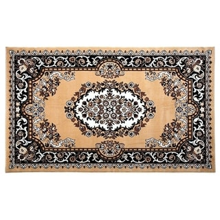 "100% PREMIUM POLYPROPYLENE  with JUTE BLEND LATEX BACKING AREA RUGS (5"" x 8"",BEIGE) - Beige"
