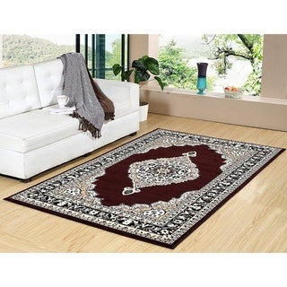 "100% PREMIUM POLYPROPYLENE  with JUTE BLEND LATEX BACKING AREA RUGS (5"" x 8"",COFFEE) - Brown"