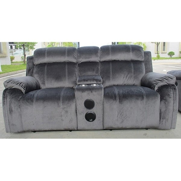 Tango Iron Console Loveseat with Speaker and Power Footrest