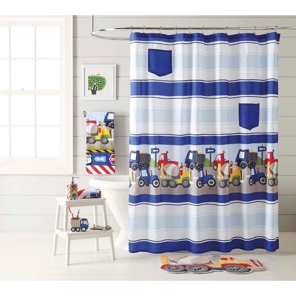 Shop Dream Factory Trains And Trucks Shower Curtain
