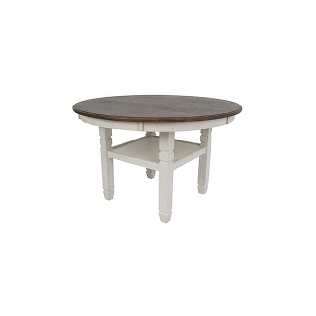 Prairie Point Cottage White 47 Inch Round Dining Table