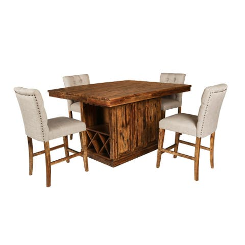 Normandy Vintage Distressed Island Table