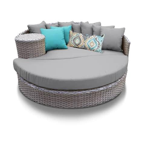 Florence Circular Sun Bed - Outdoor Wicker Patio Furniture