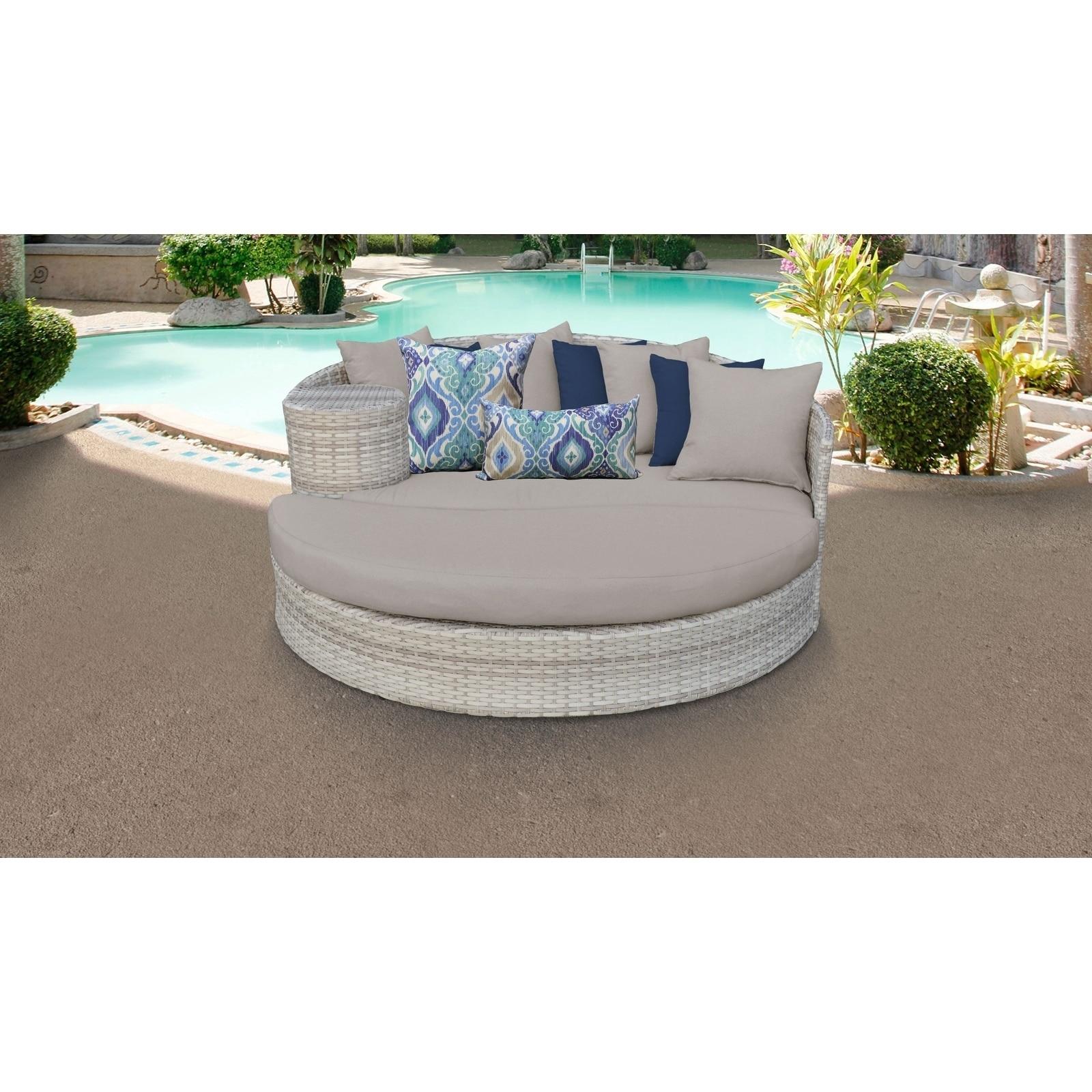 Marvelous Fairmont Circular Sun Bed Outdoor Wicker Patio Furniture Download Free Architecture Designs Embacsunscenecom