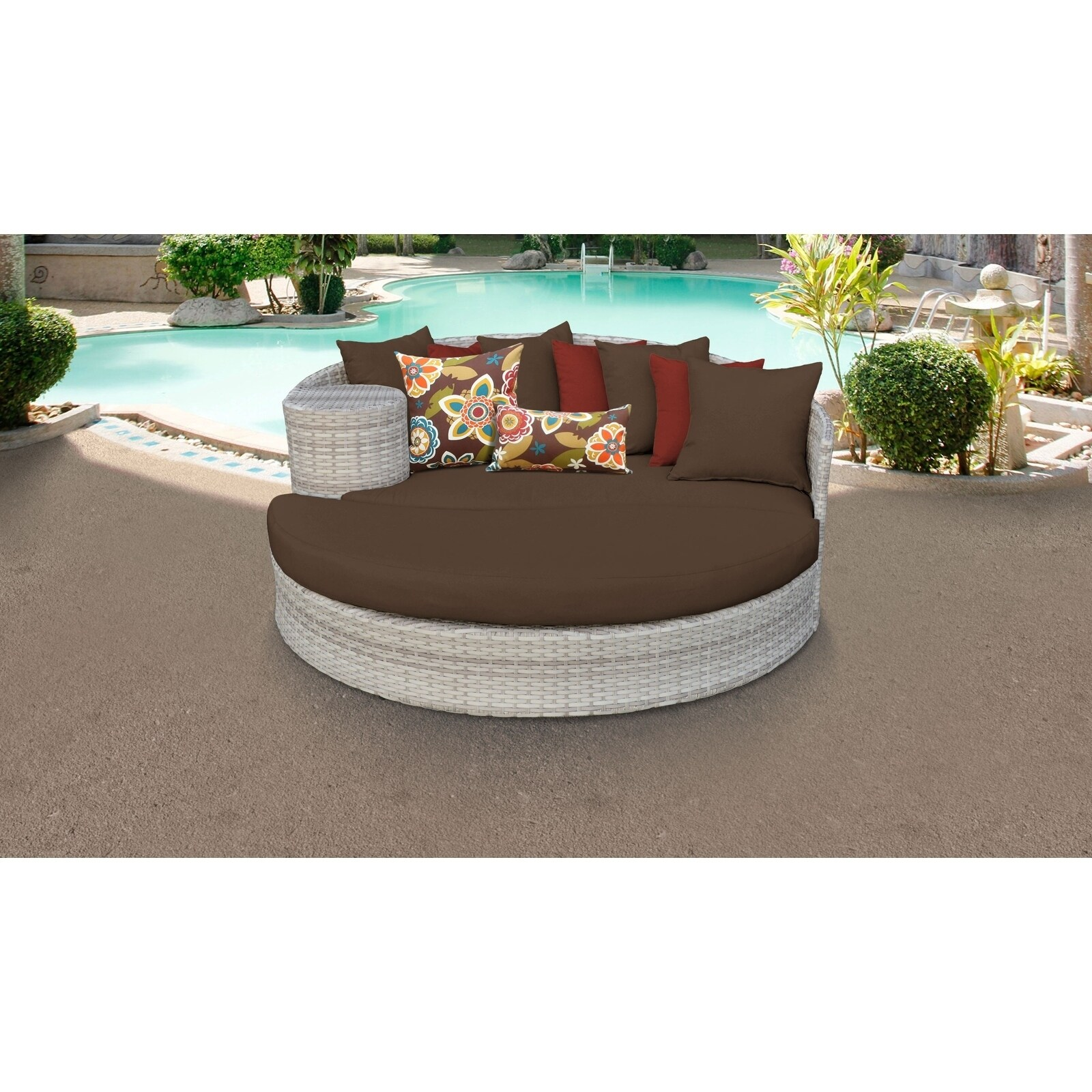 Fairmont Patio Furniture.Details About Fairmont Circular Sun Bed Outdoor Wicker Patio Furniture