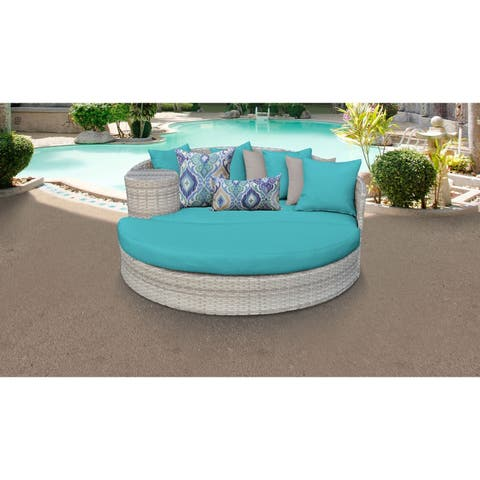 Fairmont Circular Sun Bed - Outdoor Wicker Patio Furniture