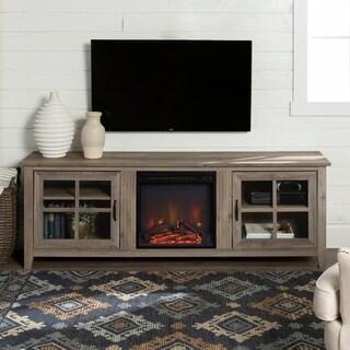 Copper Grove Dornbirn 70-inch Glass Door Fireplace TV Console