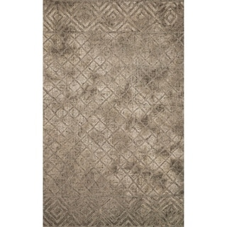 Lacey Hand-hooked Contemporary Geometric Wool Area Rug