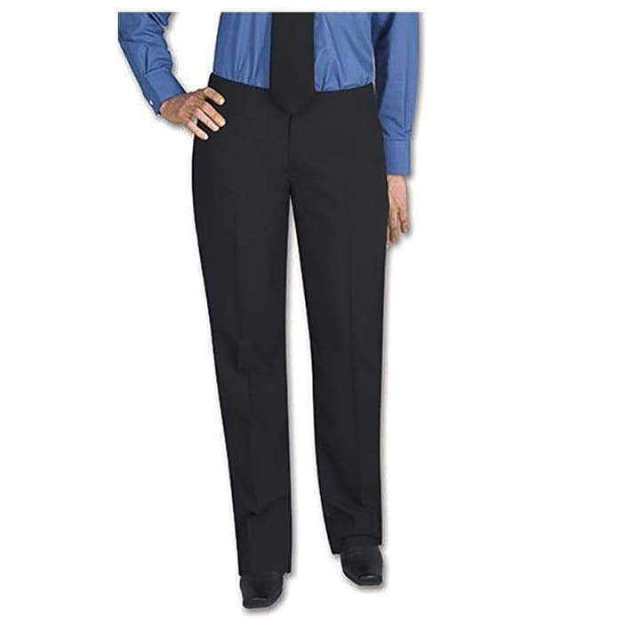 Henry Segal Womens Tuxedo Pants Flat Front Low Rise with Satin Stripe