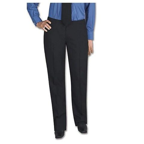 Henry Segal Women's Tuxedo Pants Flat Front Low Rise with Satin Stripe