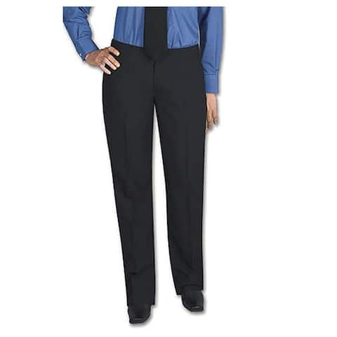 Henry Segal Women's Tuxedo Pants Flat Front Low Rise with Satin Stripe