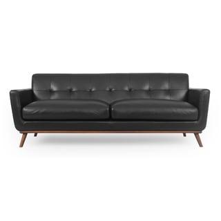 "Kardiel Jackie Mid-Century Modern 88"" Sofa, Top Grain Aniline Leather"