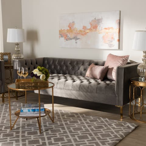 Baxton Studio Glam Velvet Sofa
