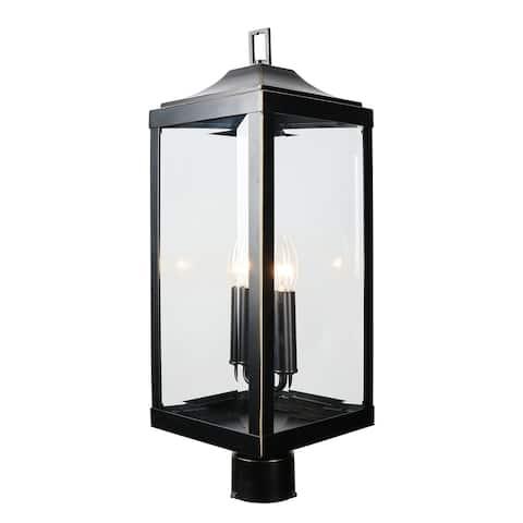 2 Light Outdoor Post Lantern in Imperial Black