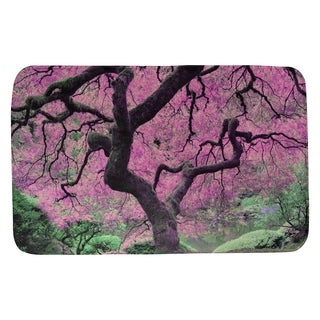 Justin Duane Pink Japanese Maple Tree Bath Mat