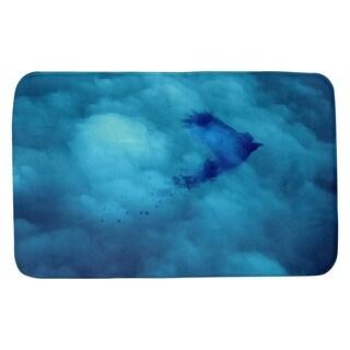 Katelyn Smith Watercolor Bird and Sky Bath Mat