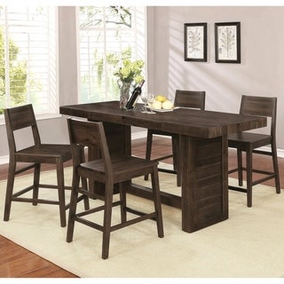 Rustic Modern Reclaimed Wood Design Counter Height Dining Set