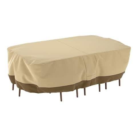 Dura Covers Fade Proof Rectangular Oval Heavy Duty Patio Table and Chair Set Cover - XL