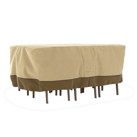 Dura Covers Fade Proof Rectangular Oval Heavy Duty Patio Table and Chair Set Cover - Medium - Not Available - Not Available