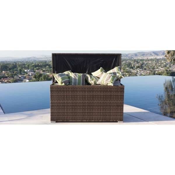Shop Outdoor Garden Storage Container Wicker Patio Deck Box By Moda