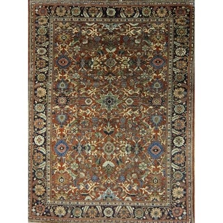 "Vintage Meshkabad Floral\Botanical Hand Made Wool Persian Area Rug - 11'9"" x 8'10"""
