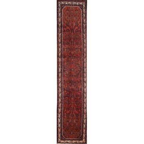 "Vintage Malayer Geometric Hand Made Wool Persian Long Rug - 15'10"" x 3'3"" Runner"