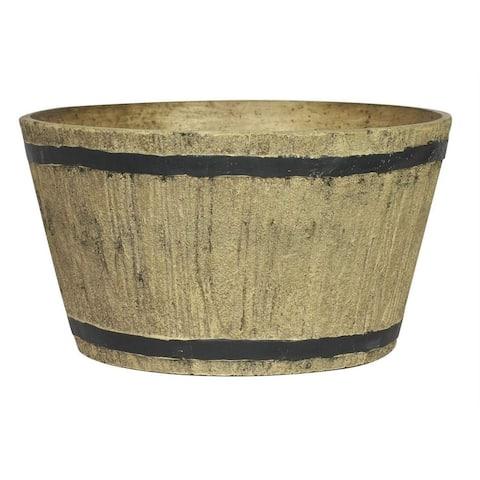 "Happy Planter Planter, 16.1"" x 16"" x 9.3"", Rustic Wood"
