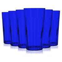 Libbey Blue Jumbo Cooler Glass with 16 oz Capacity - Additional Vibrant Colors Available