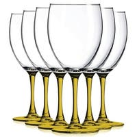 Amber Nuance Wine Glassware with Beautiful Colored Stem Accent - 10 oz