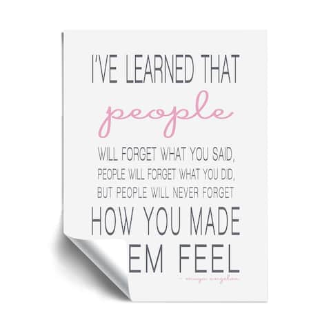 "Maya Angelou ""People l"" Removable Wall Art Mural"