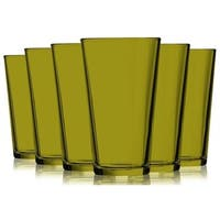 Amber Colored Mixing Glasses - 16 oz. Additional Vibrant Colors Available