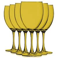 Amber Colored Nuance Wine Glassware - 10 oz. Additional Vibrant Colors Available