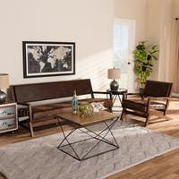 Shop Microfiber And Faux Leather 2 Piece Modern Living