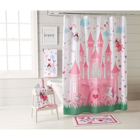 "Dream Factory Magical Princess Shower Curtain - Pink - 70"" x 72"" - 70' x 72'"
