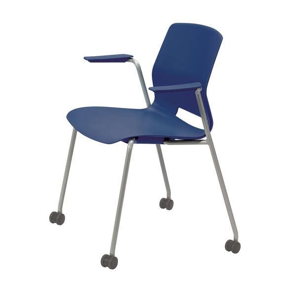 Olio Designs Lola Stacking Arm Chair with Casters