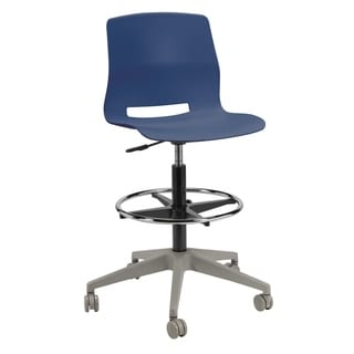 Olio Designs Lola Rolling Office Drafting Stool