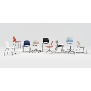 Porch & Den Tawasa Armless Stackable Chair with Casters