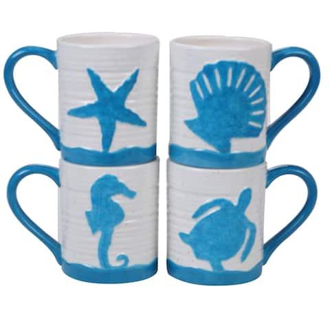 Certified International Natural Coast Mugs, Set of 4
