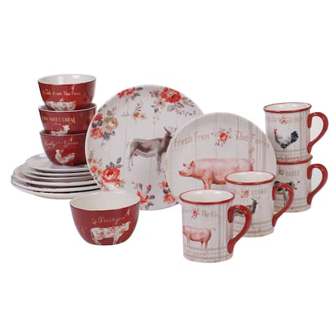 Certified International Farmhouse 16-piece Dinnerware